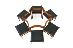 Set of 6 Danish 1960s Teak Dining Chairs Mid-Ventury