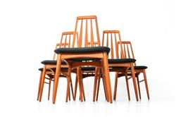 Set of 6 Eva Chairs by Niels Koefoed for Koefoed Hornslet 1964