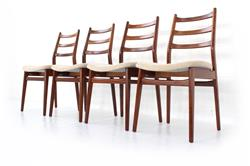 1960s Habeo Mid-Century Teak Dining Chair Set