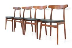 Teak Dining Chair Henning Kjaernulf for Bruno Hansen, Denmark 1955