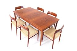 Kaj Winding for Slagelse Danish XXL Dining Table